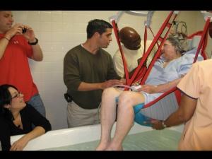 Joy baptized in the hospital
