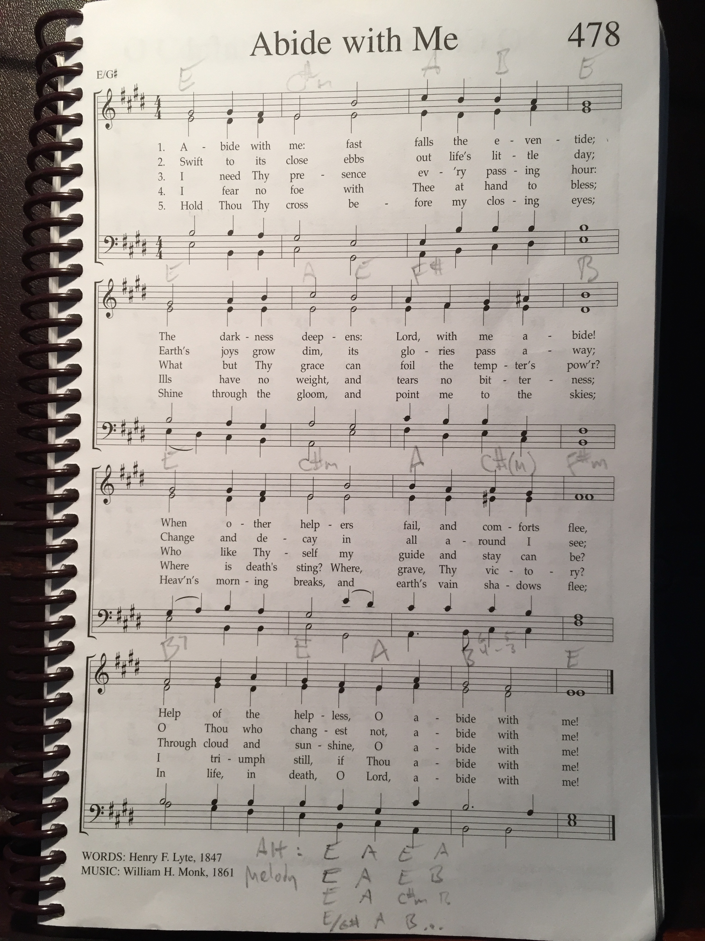 Abide With Me Monday Morning Music