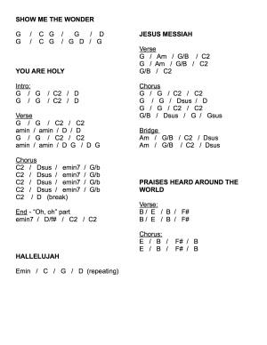 Chord Charts Sunday
